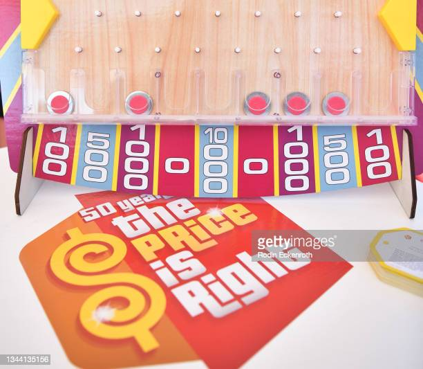 """General view of atmosphere at the CBS """"The Price Is Right"""" 50th Season Celebration at Randy's Donuts on September 30, 2021 in Inglewood, California."""
