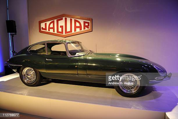 A general view of atmosphere at the celebration of Jaguar Design and the 50th Anniversary of the Jaguar EType at The IAC Building on April 20 2011 in...