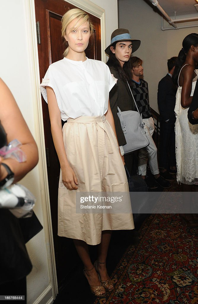 General view of atmosphere at the CFDA/Vogue Fashion Fund Fashion Show Backstage Beauty by MAC Cosmetics and Living Proof at Chateau Marmont on October 23, 2013 in Los Angeles, California.