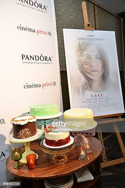 A general view of atmosphere at the cinema prive And PANDORA Jewelry Host A Special Screening Of Cake on November 23 2014 in West Hollywood California