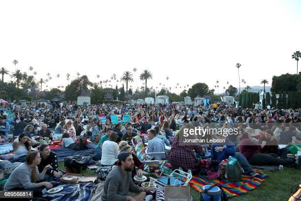 A general view of atmosphere at the Cinespia Presents 'Clueless' At The Hollywood Forever Cemetery at Hollywood Forever on May 28 2017 in Hollywood...
