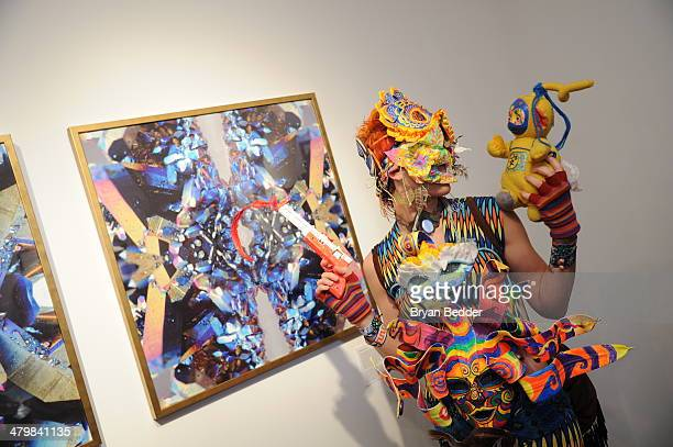 A general view of atmosphere at the Default World Dreaming A group exhibition inspired by the Burning Man at Gallery 151 on March 20 2014 in New York...