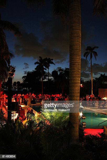 General view of atmosphere at the Drinks Dinner and Disco Party the night before the wedding of Ivana Trump and Rossano Rubicondi at the MaraLago...