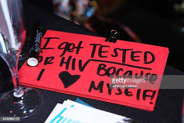 A general view of atmosphere at The Elizabeth Taylor AIDS Foundation Cohosts National HIV testing Day With The CDC's Act Against AIDS at The Abbey in...