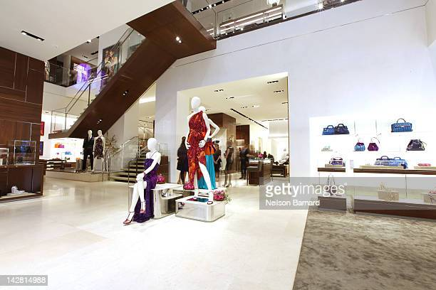 A general view of atmosphere at the Ferragamo Fifth Avenue Flagship ReOpening at Salvatore Ferragamo on April 12 2012 in New York City