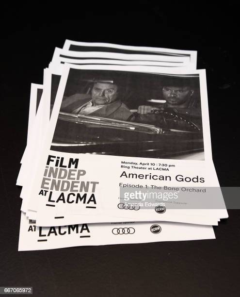 A general view of atmosphere at the Film Independent at LACMA special screening and QA of 'American Gods' at the Bing Theatre at LACMA on April 10...