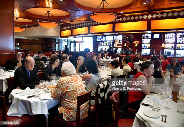 A general view of atmosphere at the Film Independent Sloan Summit at Fleming's Prime Steakhouse Wine Bar at LA Live on November 16 2014 in Los...