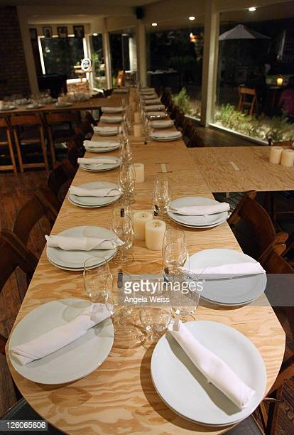 A general view of atmosphere at the Friends N Family Dinner at The Jack Warner Estate on February 10 2011 in Los Angeles California