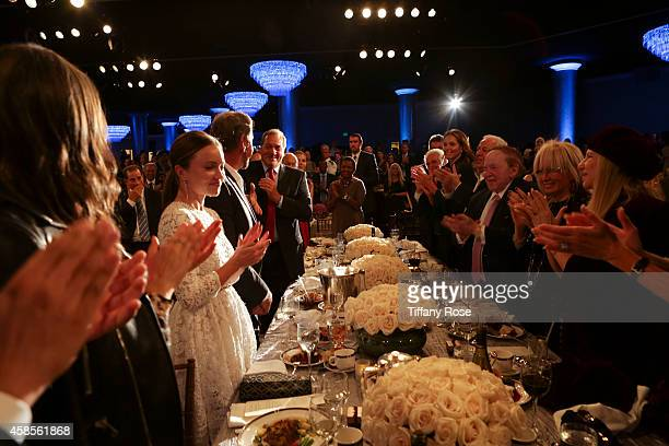 A general view of atmosphere at the Friends Of The Israel Defense Forces 2014 Western Region Gala at The Beverly Hilton Hotel on November 6 2014 in...
