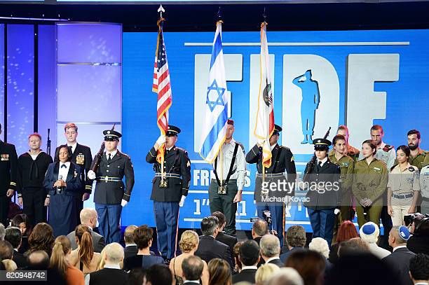 A general view of atmosphere at the Friends Of The Israel Defense Forces Western Region Gala at The Beverly Hilton Hotel on November 3 2016 in...