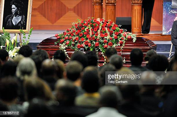 A general view of atmosphere at the funeral service of Etta James on January 28 2012 in Gardena California