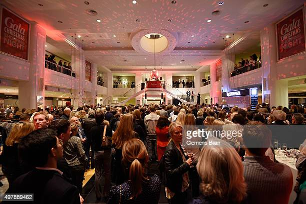 A general view of atmosphere at the GALA Christmas Shopping Night 2015 at Alsterhaus on November 19 2015 in Hamburg Germany