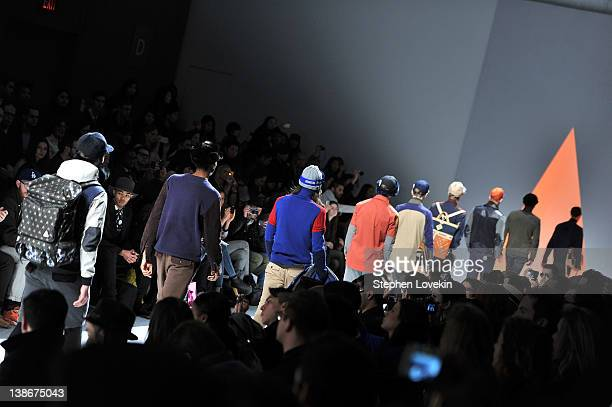 General view of atmosphere at the General Idea Fall 2012 fashion show during MercedesBenz Fashion Week at The Studio at Lincoln Center on February 10...