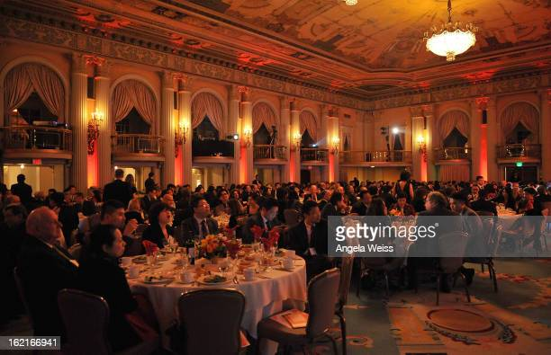 A general view of atmosphere at the GirardPerregaux and Asia Society event honoring NBA Great Yao Ming with Steve Nash at Millennium Biltmore Hotel...