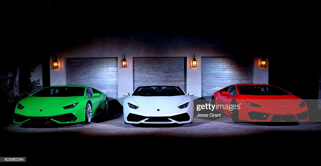 Lamborghini Hosts Global Debut of the Huracan RWD Spyder : News Photo