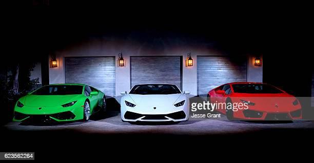 A general view of atmosphere at the global debut of the Huracan RWD Spyder hosted by Lamborghini on November 15 2016 in Pacific Palisades California