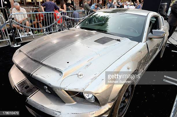 A general view of atmosphere at the global 'Getaway' movie premiere featuring the Shelby GT500 Super Snake on the red carpet at Regency Village...