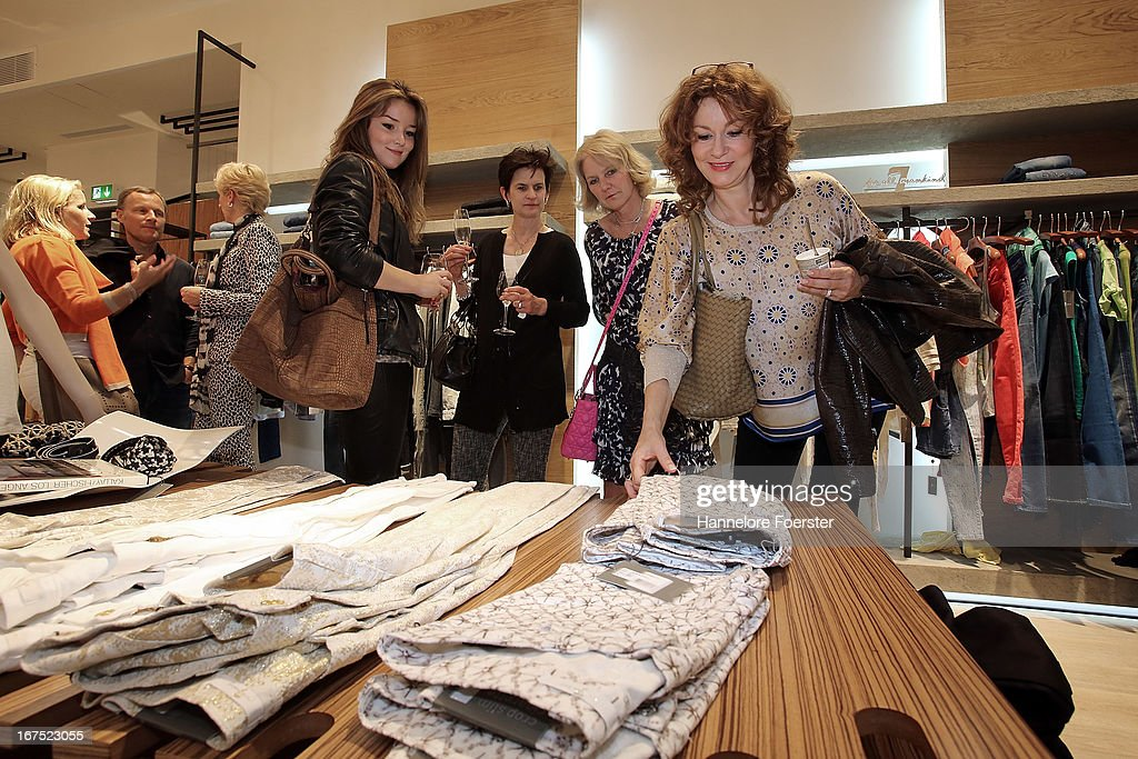 A general view of atmosphere at the grand opening of 7 for all mankind store, on April 25, 2013 in Frankfurt, Germany.