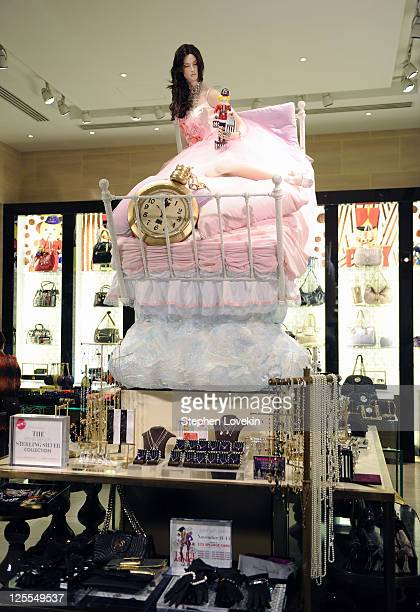 A general view of atmosphere at the Henri Bendel holiday window unveiling at Henri Bendel on November 11 2010 in New York New York