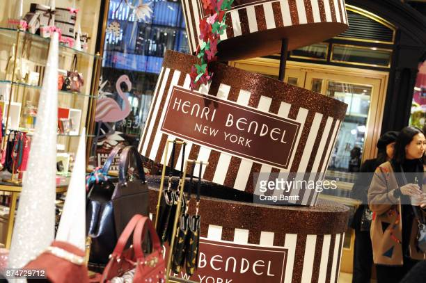 A general view of atmosphere at the Henri Bendel Holiday Window Unveiling at Henri Bendel on November 15 2017 in New York City