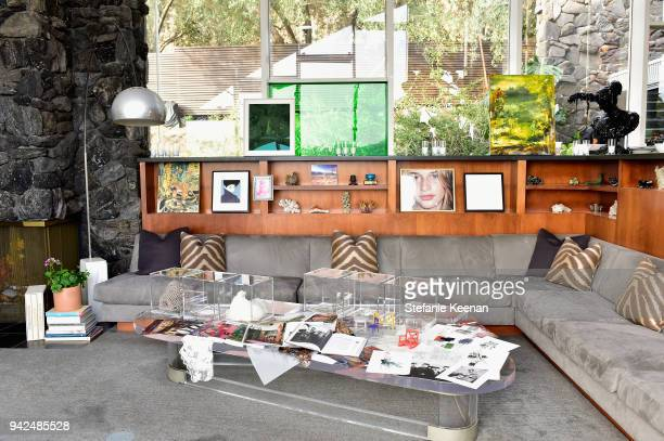 A general view of atmosphere at the HM celebration of 2018 Conscious Exclusive collection at John Lautner's Harvey House on April 5 2018 in Los...