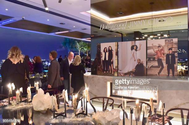 A general view of atmosphere at The Hollywood Reporter and Jimmy Choo Power Stylists Dinner on March 20 2018 in Los Angeles California