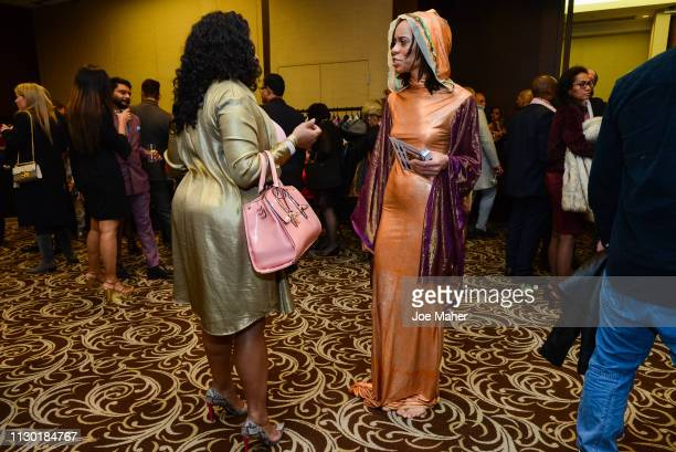 A general view of atmosphere at the House of iKons show during London Fashion Week February 2019 at the Millennium Gloucester London Hotel on...