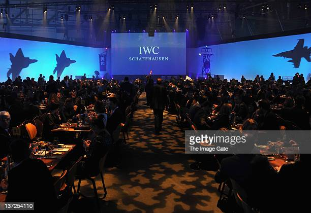 General view of atmosphere at the IWC Schaffhausen Top Gun Gala Event during the 22nd SIHH High Jewellery Fair at the Palexpo Exhibition Hall on...