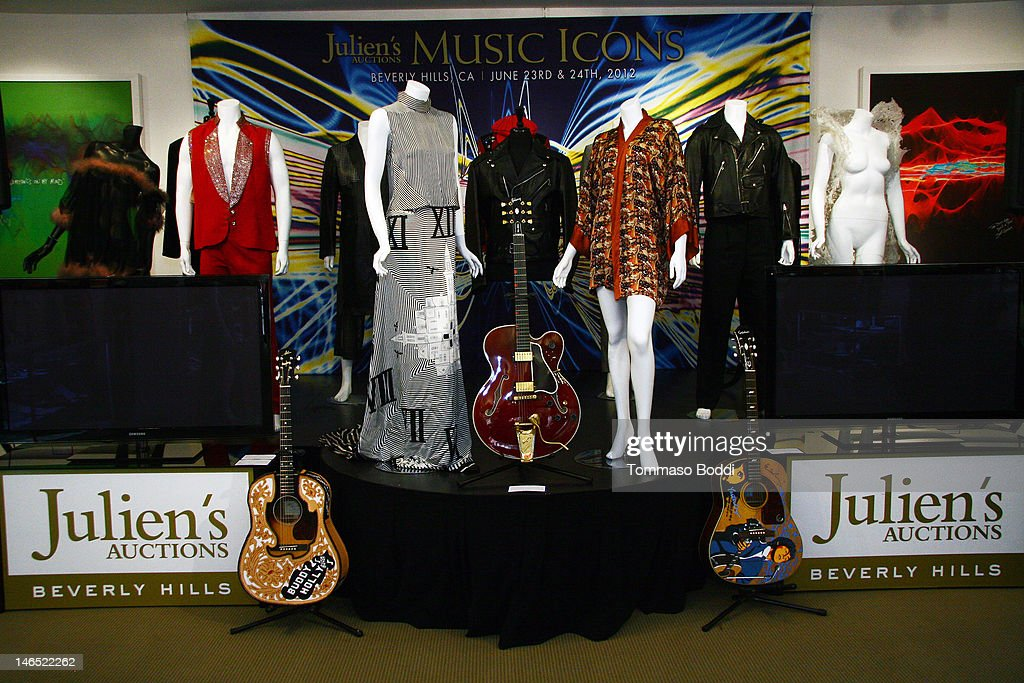 A general view of atmosphere at the Julien's Auctions press call for Music Icons And Sports Legends Memorabilia Auction held at Julien's Auctions Gallery on June 18, 2012 in Beverly Hills, California.