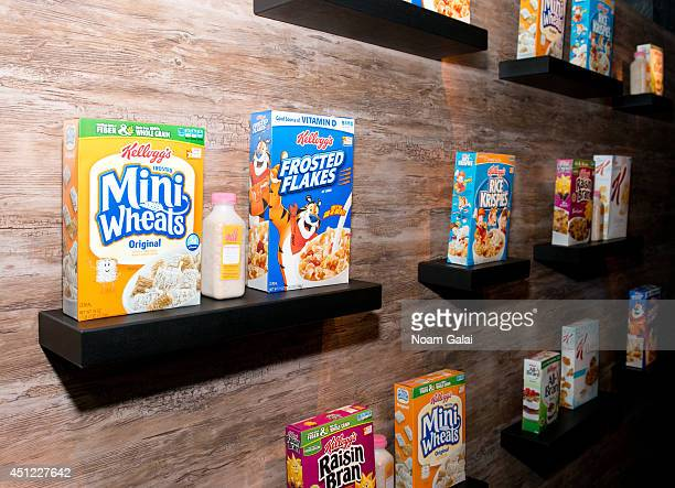 General view of atmosphere at the Kellogg's Recharge Bar on June 25 2014 in New York City
