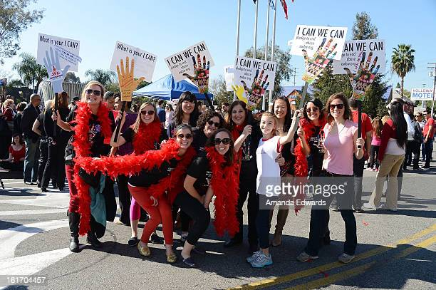 General view of atmosphere at the kick-off of One Billion Rising on February 14, 2013 in West Hollywood, California.