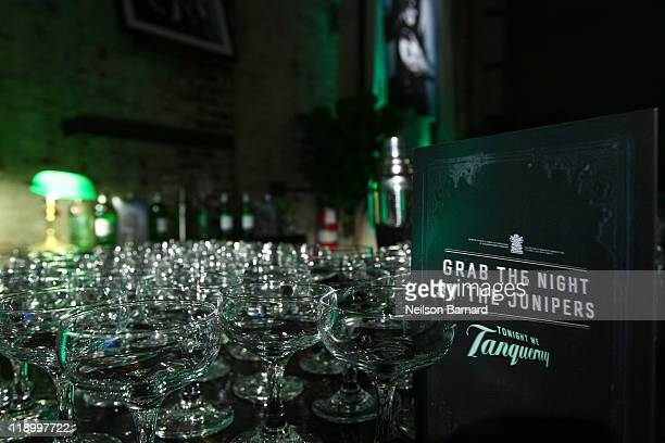 A general view of atmosphere at the launch party for 'Tonight We Tanqueray' at The Green Building on July 13 2011 in New York United States