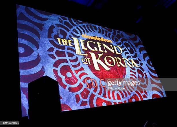 A general view of atmosphere at the Legend of Korra panel at the 2014 San Diego ComicCon International Day 3 on July 25 2014 in San Diego California