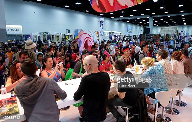 A general view of atmosphere at the Legend of Korra signing at the 2014 San Diego ComicCon International Day 3 on July 25 2014 in San Diego California