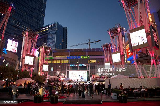 A general view of atmosphere at the Los Angeles Food Wine Festival at Nokia Plaza LA LIVE on August 9 2012 in Los Angeles California