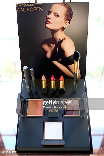 A general view of atmosphere at the MAC Cosmetics Zac Posen luncheon at the Ennis House hosted by Karen Buglisi Weiler Demi Moore Jacqui Getty on...
