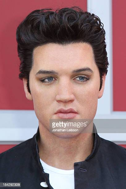 A general view of atmosphere at the Madame Tussauds Hollywood Unveils FirstEver Elvis Wax Figure And Holds Fried Peanut Butter And Banana Sandwich...