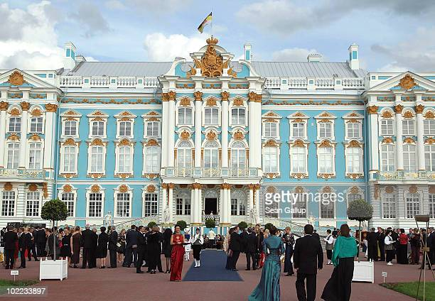 General view of atmosphere at the Mariinsky Ball of Montblanc White Nights Festival at Catherine Palace on June 19 2010 in Pushkin near Saint...