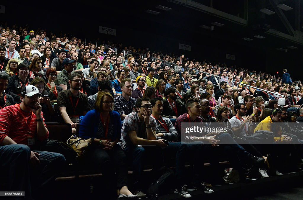 A general view of atmosphere at the Matthew Inman Keynote during the 2013 SXSW Music, Film + Interactive Festival at Austin Convention Center on March 12, 2013 in Austin, Texas.