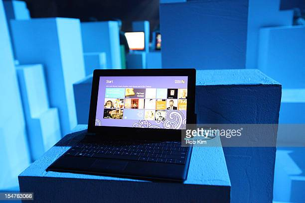 General view of atmosphere at the Microsoft Windows 8 launch at Pier 57 on October 25, 2012 in New York City.