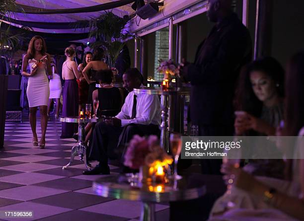A general view of atmosphere at the Moet Rose Lounge DC hosted by Wale to celebrate the release of The Gifted at W POV Terrace on June 26 2013 in...