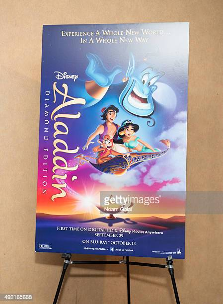 General view of atmosphere at The MOMS Mamarazzi viewing of Disney's 'Aladdin' Diamond Edition at Chelsea Bow Tie Cinemas on October 10 2015 in New...