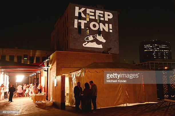 A general view of atmosphere at the 'More Than a Cone' art auction and campaign launch benefiting Best Friends Animal Society in Los Angeles where...
