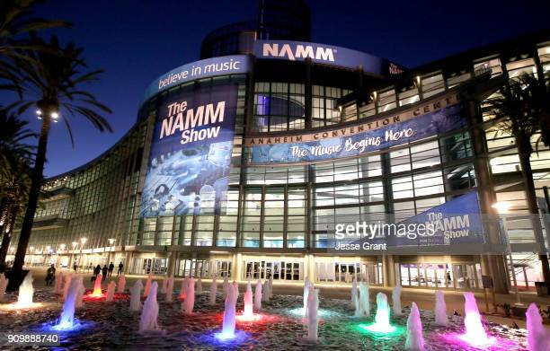 A general view of atmosphere at The NAMM Show Media Preview Day at Anaheim Convention Center on January 24 2018 in Anaheim California