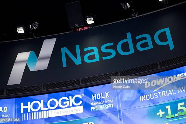 General view of atmosphere at the NASDAQ opening bell ceremony at NASDAQ MarketSite on October 1 2015 in New York City