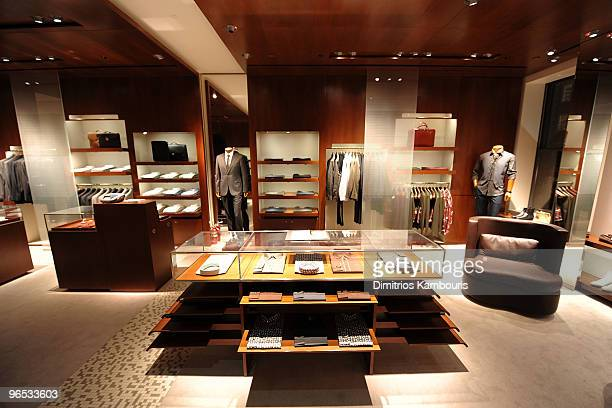 General view of atmosphere at the opening of the first Hermes Men's Store on Madison Avenu on February 9, 2010 in New York City.