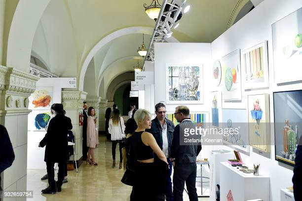 106 The Other Art Fair Los Angeles Presented By Saatchi Art Opening Night Photos And Premium High Res Pictures Getty Images