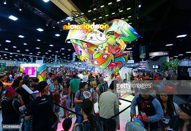 A general view of atmosphere at the Power Rangers signing at the 2014 San Diego ComicCon International Day 3 on July 25 2014 in San Diego California
