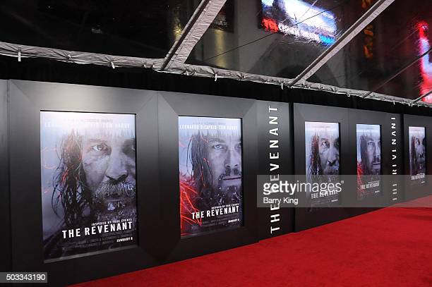 A general view of atmosphere at the Premiere of 20th Century Fox And Regency Enterprises' 'The Revenant' at TCL Chinese Theatre on December 16 2015...