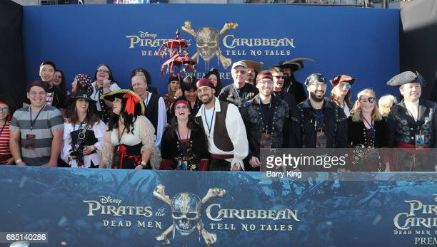 A general view of atmosphere at the premiere of Disney's 'Pirates Of The Caribbean Dead Men Tell No Tales' at Dolby Theatre on May 18 2017 in...